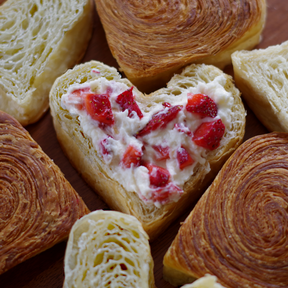 The Bakingtist Heart Croissants
